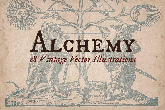 Vintage Alchemy Illustrations by Mr Vintage on @creativemarket