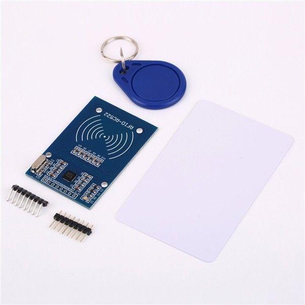High Quality MFRC-522 RC522 RFID NFC Reader RF IC Card Inductive Sensor Module For Arduino Module + S50 NFC Card + NFC Key Ring