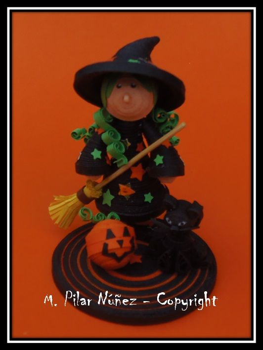 ❀ Crea Quilling ❀ : Quilling 3d: Witch in Halloween