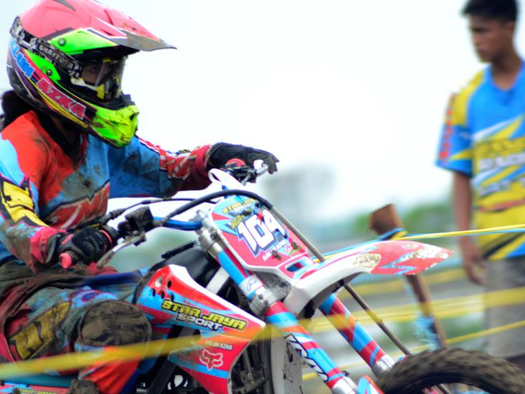 Girl on Motocross by Mr Ginanto supported by Thomson Reuters Foundation and Microsoft