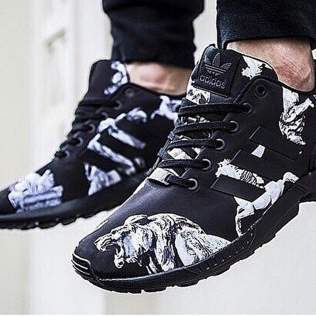 24eb4b7e842ce adidas zx flux custom photo print sneakeroutlet