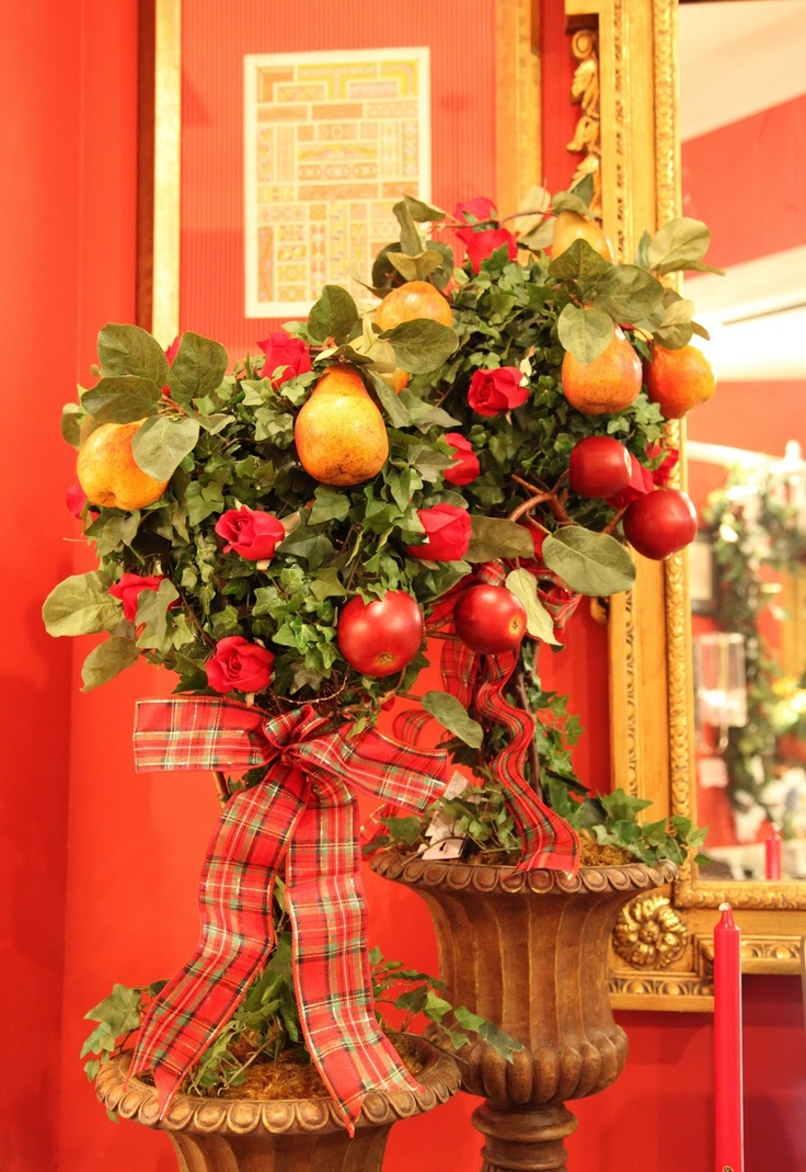 72 best Christmas Topiary Trees images on Pinterest | Christmas ...