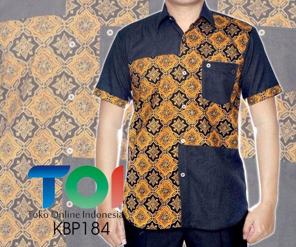 Kemeja Batik kombinasi Denim dengan Kode KBP184, merupakan batik printing yang terbuat dari bahan katun yang dikombinasi dengan bahan katun dengan jahitan yang rapih. Harga untuk kemeja batik kombinasi denim kode 184 ini adalah Rp.200.000
