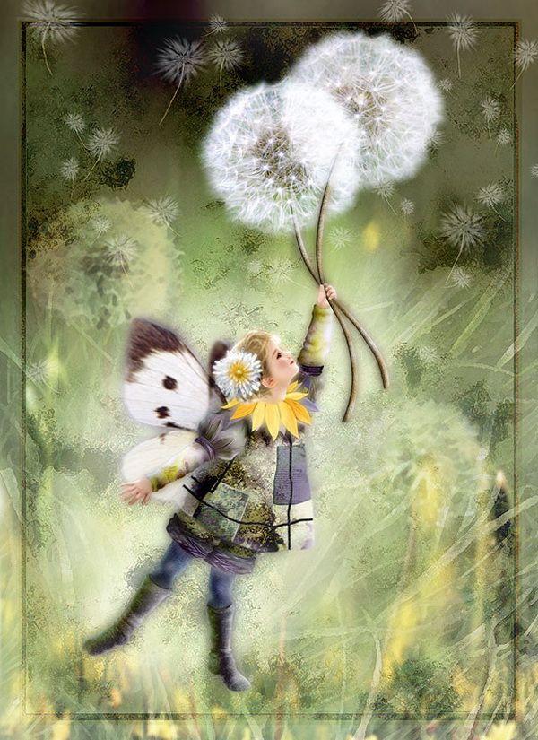 Dandelion Fairy Painting by Miharu Yokota | Cuded