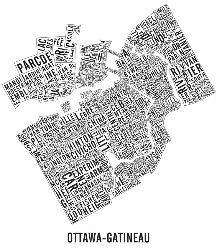 Ottawa - Gatineau Map of the different Neighbourhoods and landmarks.#ottawa #gatineau #ottawarealestate #remax #rafreedman Looking for a realtor? RoseAnneFreedman.com