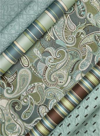 JF Fabrics Brilliance - 100% Silk Paisley 'Astoria' is exquisite!