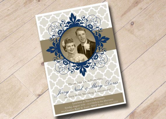 60th Wedding Anniversary Invitations: 22 Best Images About 60th Anniversary Cards On Pinterest