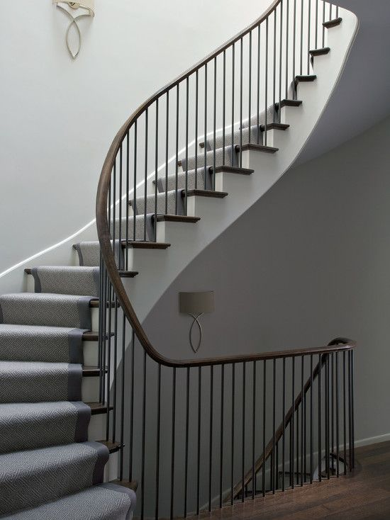 Northworks Architects - entrances/foyers - winding staircase, spiral staircase, stained handrail, handrail, staircase handrail, spindles, ir...