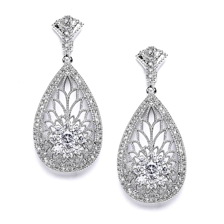 496 best Dazzling Earrings for your Wedding and Prom images on