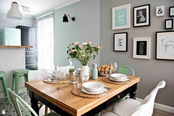 Un salón de Pinterest en gris, blanco y mint   Decoración