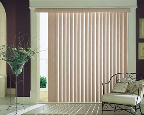 fotos de persianas verticais para sala