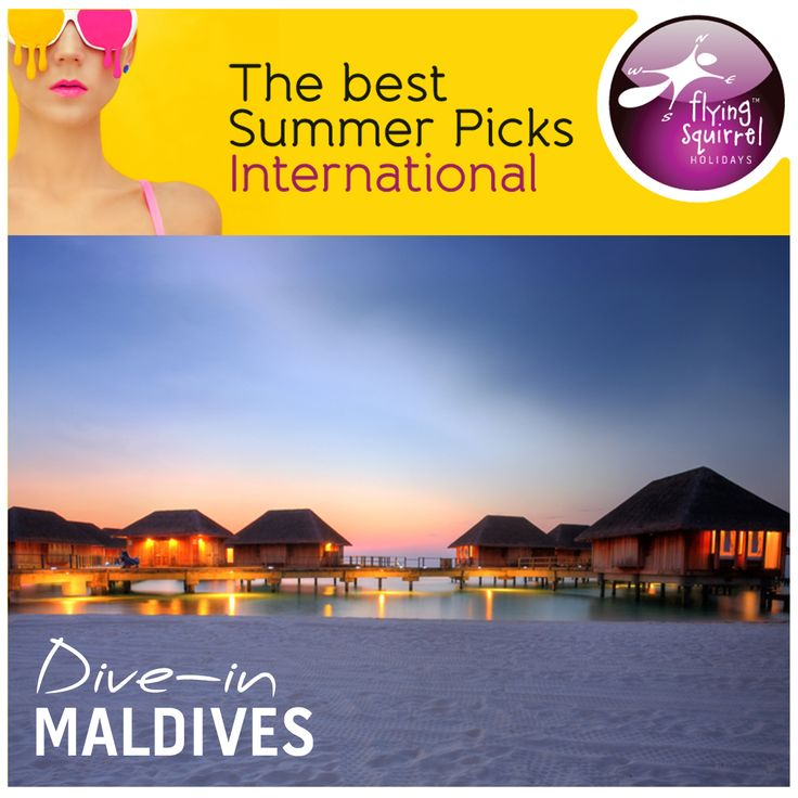 This summer head out to the land of white-powder-sand beaches of #Maldives and soak yourself in its luminous waters and turquoise lagoons. Try out- of-the world diving and snorkeling experiences; discover dazzling coral walls and caves and a fascinating underwater life. To know more connect with Flying Squirrel Holidays.
