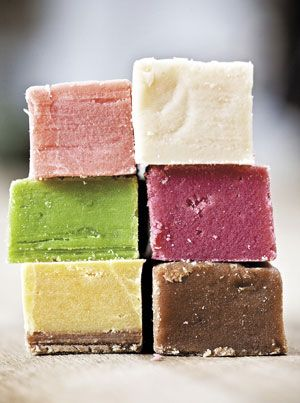 Milk Fudge: 2 (14-ounce) cans condensed milk 1 (12-ounce) can evaporated goat's or cow's milk 6 tablespoons unsalted butter 2 teaspoons pure vanilla extract Pinch of salt