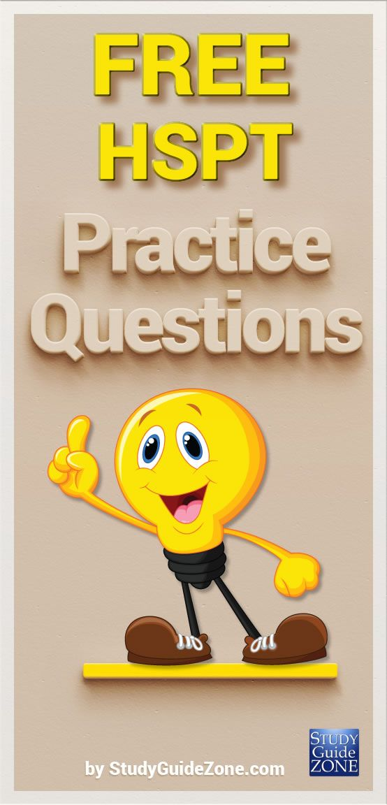 Get free HSPT practice questions and study tips to help you prep for the HSPT test. #hspttest #hsptprep
