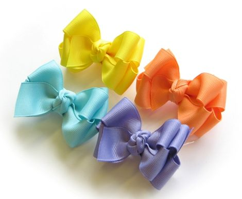 How To Make 2-Layer Boutique Hairbow/Hair Bow Instruction-Part 2 : Hip Girl Boutique - , Ribbons, Hair Bows, Hair Clips, Hairbow Hardware, Free Hairbow Instructions