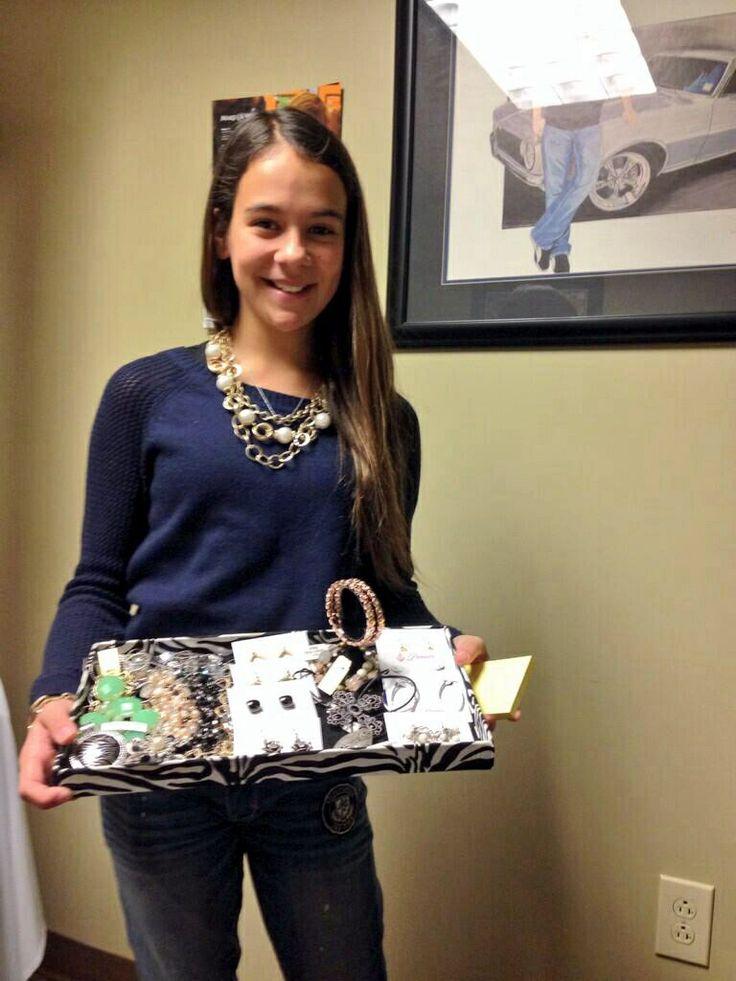 Karsyn Elledge Selling Jewelry At Jr Motorsports Karsyn