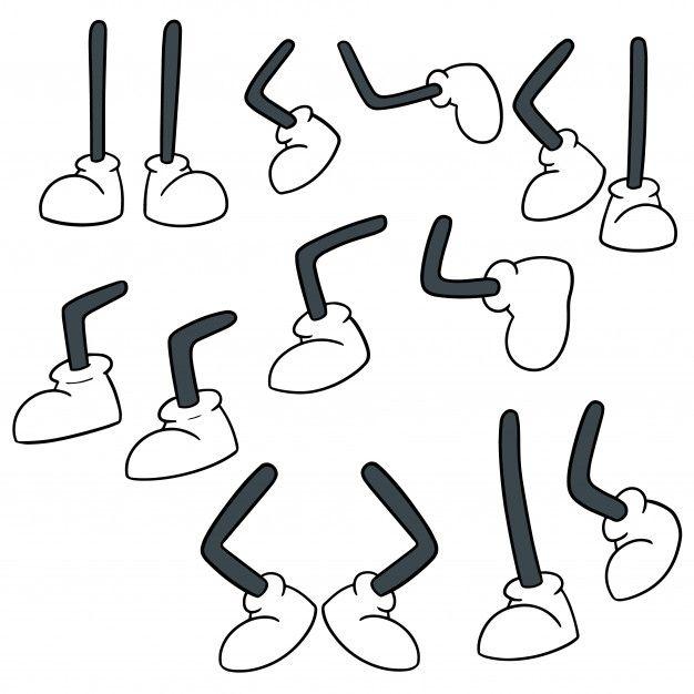 Vector Set Of Cartoon Leg Cartoon Legs Cartoon Art Styles Drawing Cartoon Characters