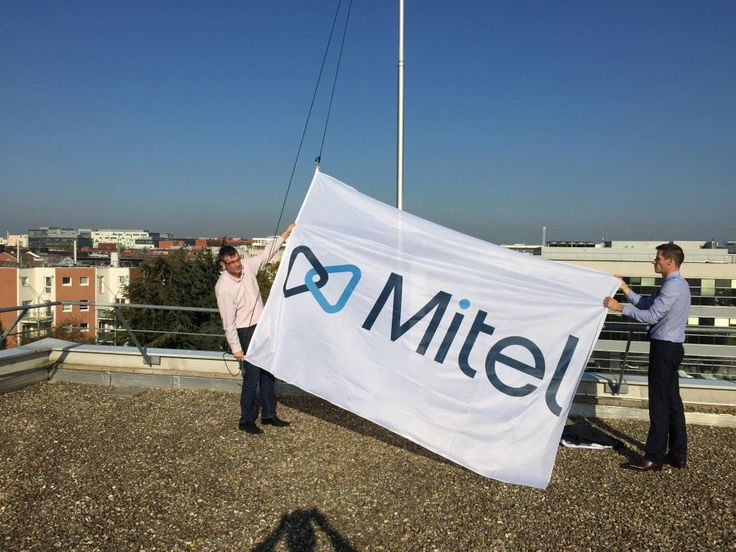 "@MItel: ""Rising of the #NewMitel flag on the top of the roof of @Mitel_FR, @Mitel  https://twitter.com/FrancoisMor/status/517237669693517824/photo/1"