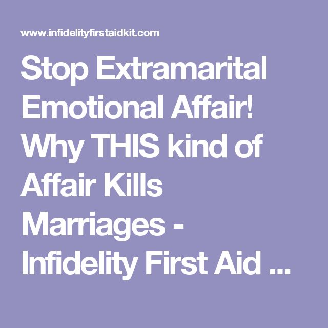how to get out of an extramarital affair
