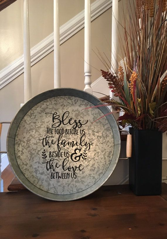 CustomPersonalized Galvanized Serving Tray by