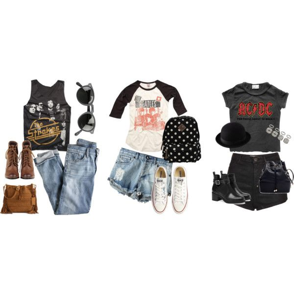 Look's com camisas de banda by brunisses on Polyvore featuring moda, Rock Revival, Junk Food Clothing, J.Crew, OneTeaspoon, Topshop, Converse, Pull&Bear, Madden Girl and Zara