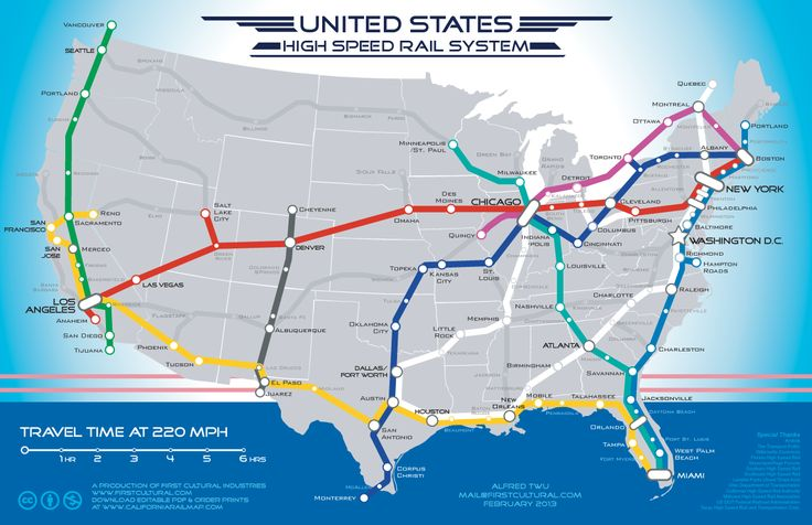 What if?  US High Speed Rail