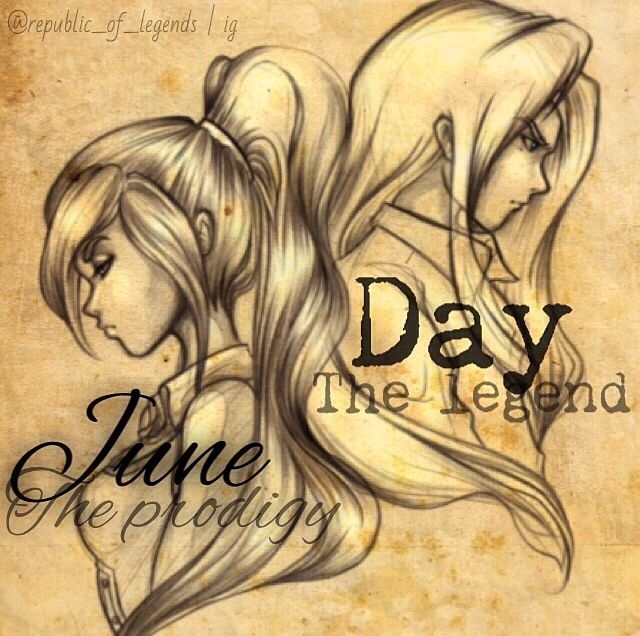 June and Day from Legend by Marie Lu (I don't like Day's hair here but....):