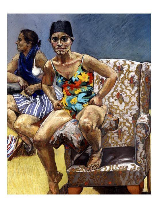 paula rego paintings | Two of Germaine Greer, by Paula Rego, 1995 pastel on paper laid on ...