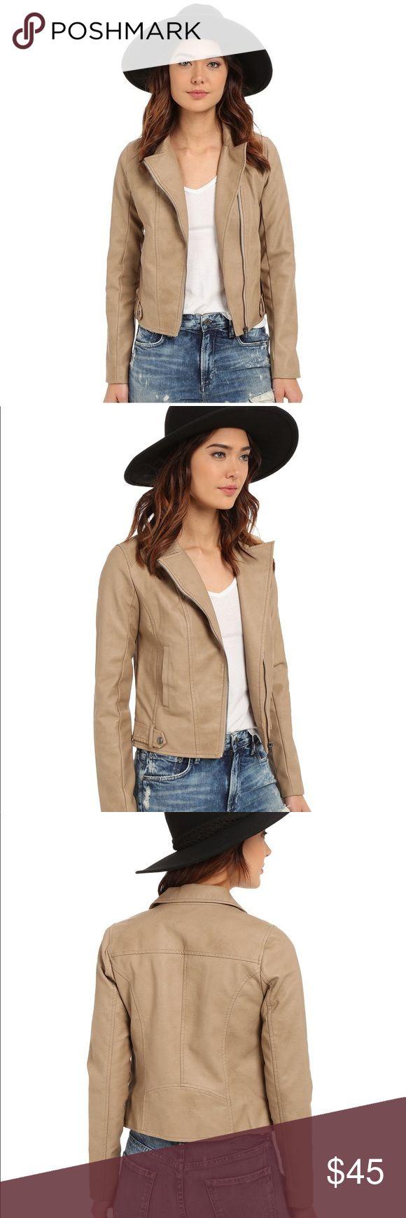 Jack by BB Dakota Kenickie Jacket (Light Khaki) Leather jacket in perfect condition. Only worn once. Jack by BB Dakota Jackets & Coats