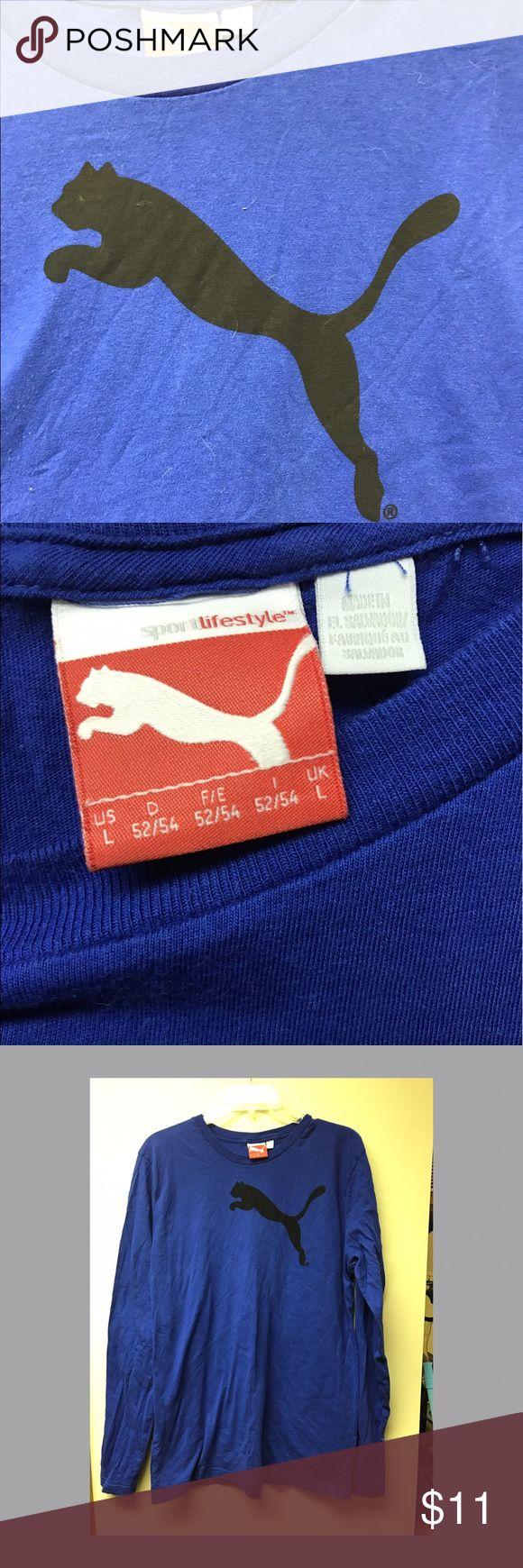 Men's Royal blue puma long sleeve shirt Large men's royal blue puma shirt. Only worn once! Puma Shirts Tees - Long Sleeve