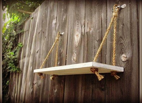 Nautical Rope Swing Shelf by NectarAmbrosia on Etsy, $42.00