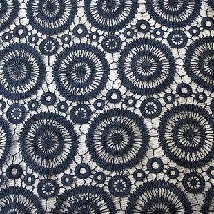 2012120809 Black Circle water soluble lace fabrics $29.00