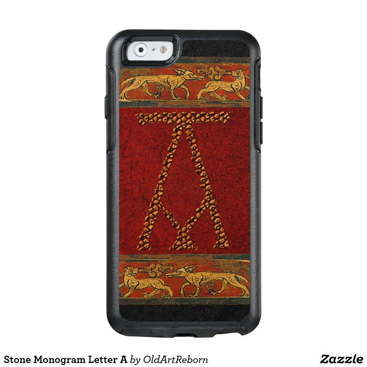 Stone Monogram Letter A OtterBox iPhone 6/6s Case