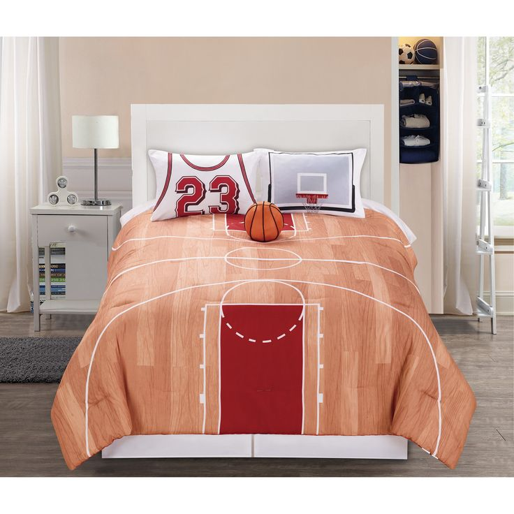 Hallmart Kids Courtside Comforter Set - in Twin or Full sizes.