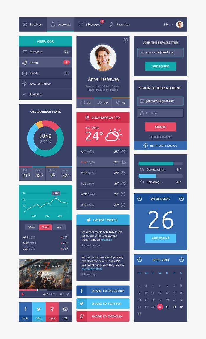25+ Flat Design Inspiration for Designers