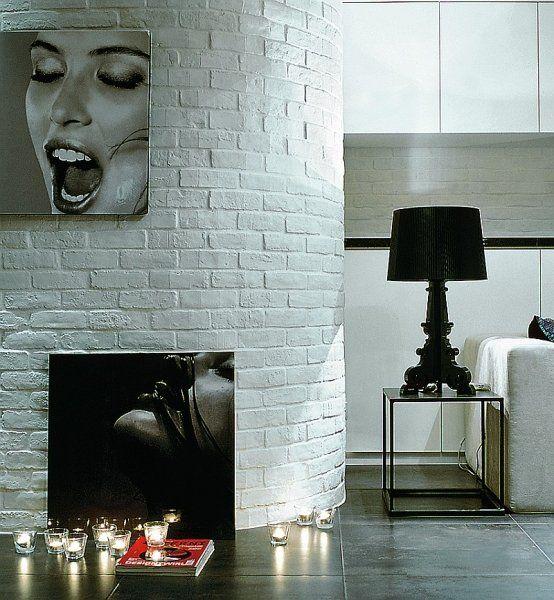 идеи для стен с камином из кирпича в комнате - Поиск в Google