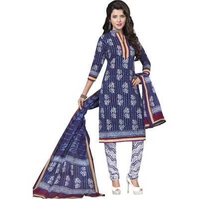 Buy Pari Blue Cotton Dress Material by Agate Business Services Private Limited, on Paytm, Price: Rs.899?utm_medium=pintrest