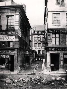 by Charles Marville - Paris 4 rue de Breteuil, view taken from rue Reaumur towards rue Vaucanson, 1858-78