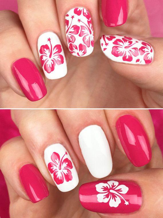 Het Unail nagel Stencil Set-Aloha patroon ontwerp. Unail Stencil Set-een verzameling van nail art stencils gebruikt voor het maken van ongelooflijke