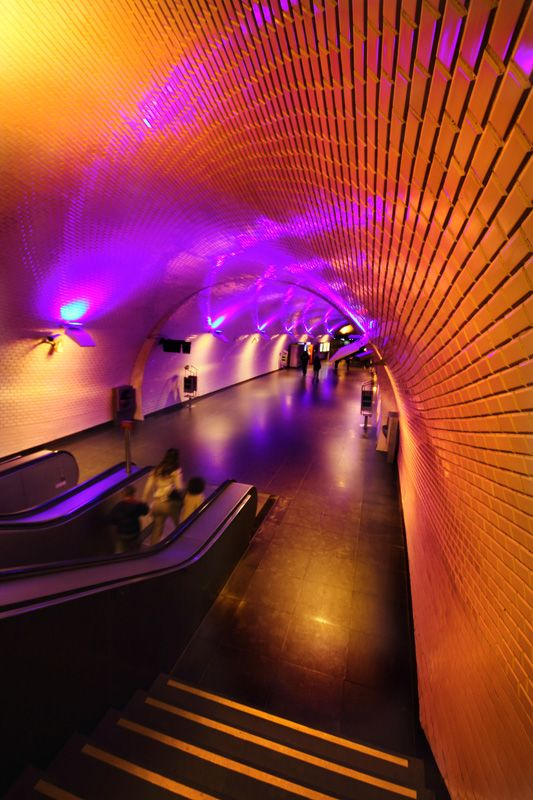 Colorful Subway in Lisbon - , Lisboa