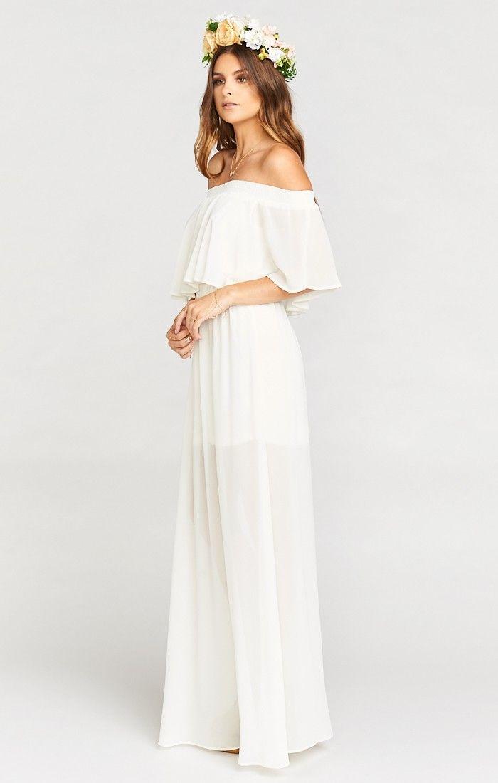 White maxi dress bridal