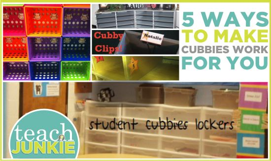 5 Ways to Make Cubbies Work for You Getting your classroom set up usually means creating student cubby (cubbie) spaces. Cubbies hold student papers and/or sometimes larger items depending upon the need for storage in a classroom. Here a classroom system to store items easier,... give flexible options and make labeling cubbies easier.