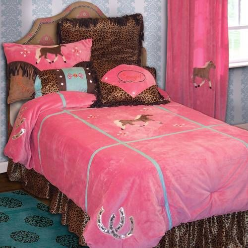 Carstens Cowgirl Leopard Bedding By Carstens Bedding, Comforters, Comforter Sets, Duvets, Bedspreads, Quilts, Sheets, Pillows: The Home Deco...