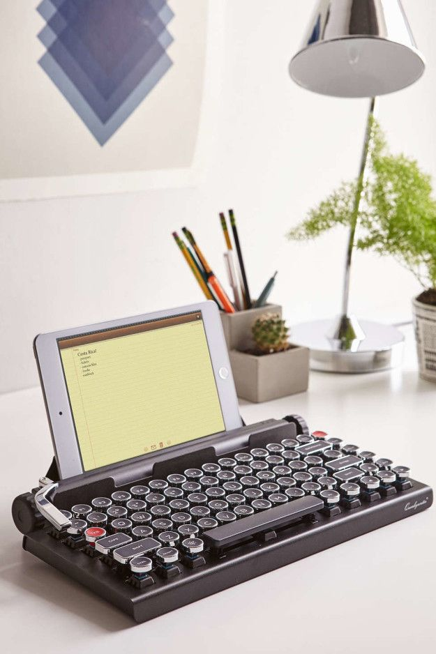 This super rad wireless typewriter keyboard: | Community Post: 18 Perfect Products Every Writer Will Want Immediately