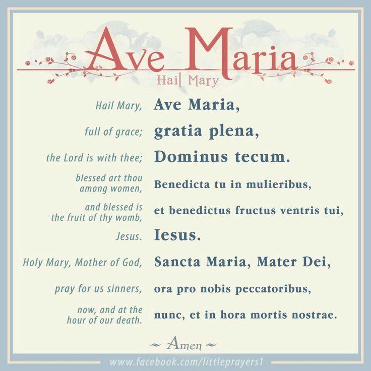~Ave Maria / Hail Mary
