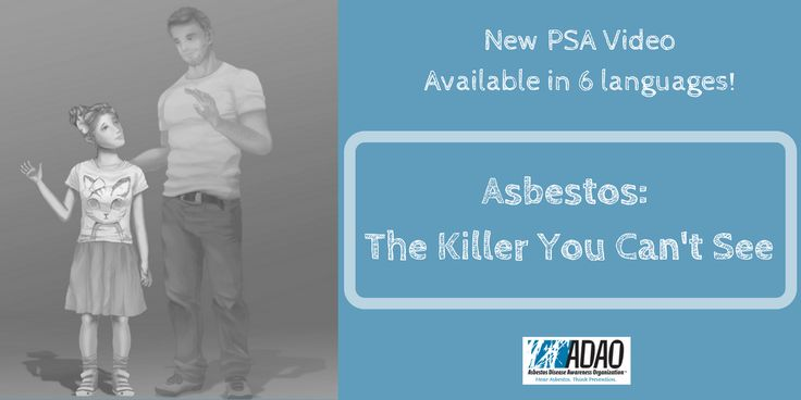 """For Education and Prevention resources, please visit adao.us  Heartbeats from Tragedy: Asbestos Explained in New PSA from ADAO and 'The Animated Activist,' Available in Six Languages.""""Asbestos: The Killer You Can't See"""" Aims to Spread Asbestos Awareness to Youth, Families, and Workers Around the Globe    For Immediate Release: May"""