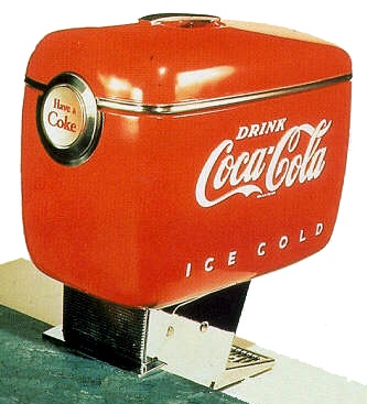 Coca Cola dispenser by Raymond Loewy