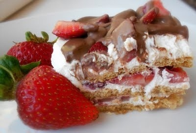 No - Bake Strawberry Ice Box Cake! So Fast and So Delicious!!!! recipes