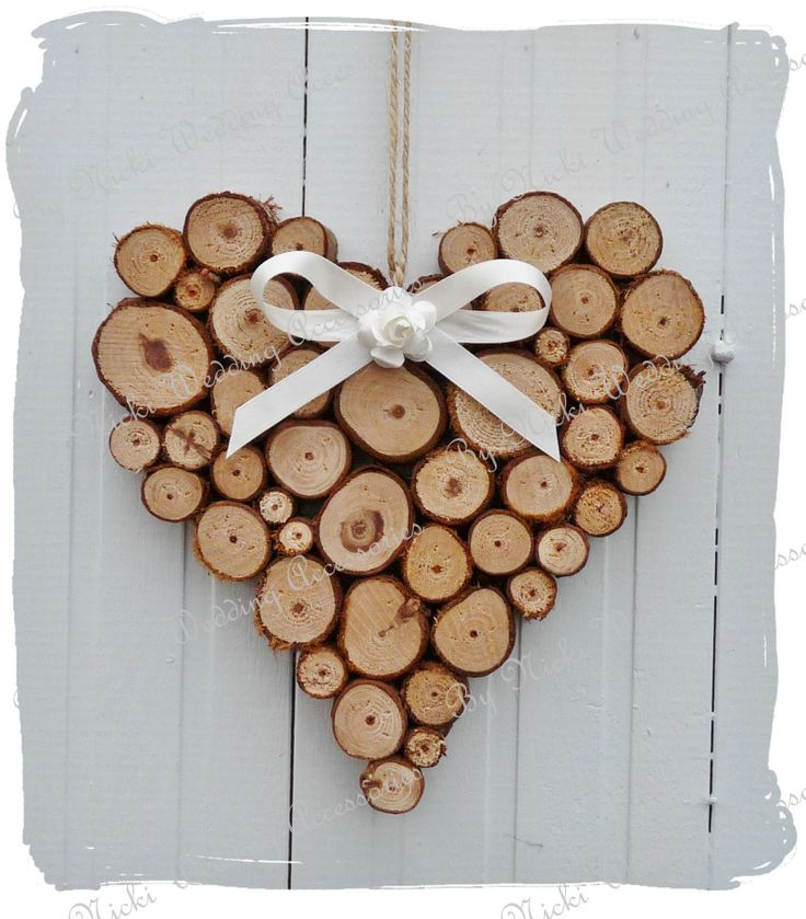 Rustic log heart.  www.bynicki.co.uk