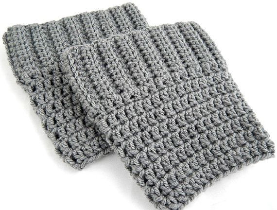 Grey Boot Cuffs Womens Crochet Boot Socks Knit Boot Toppers Fall and Winter Leg Warmers #etsy #etsyretwt